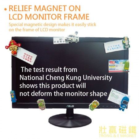 Relief Magnet on LCD Monitor Frame
