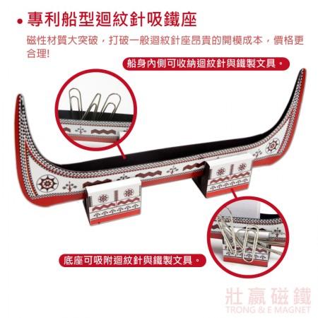 專利船型迴紋針吸鐵座