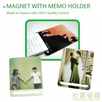 Magnet with Memo Holder