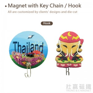 Magnet with Key Chain/Hook