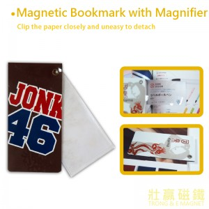 Magnetic Bookmark with Magnifier